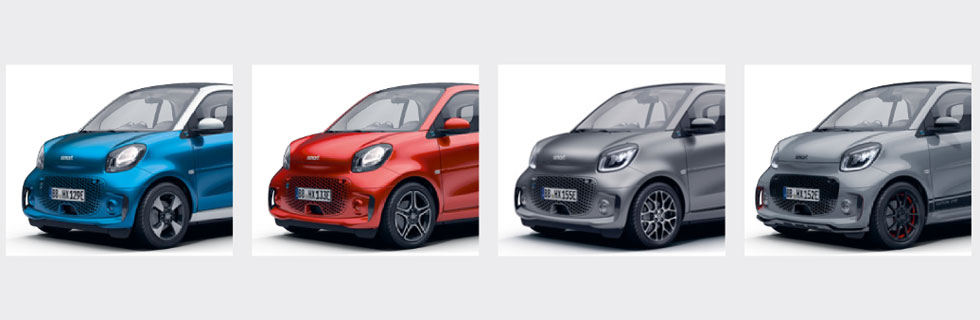 2020 smart EQ fortwo and smart EQ forfour UK prices are announced