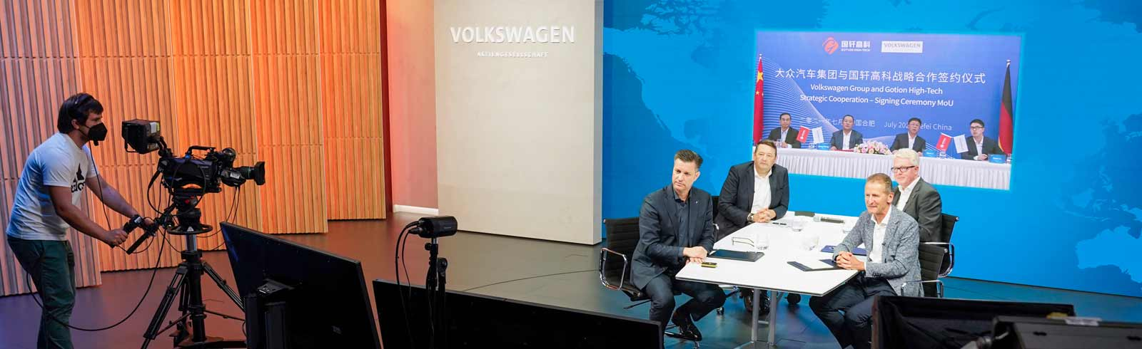 Volkswagen Group and Gotion High-Tech of China team up for an EV battery factory in Germany