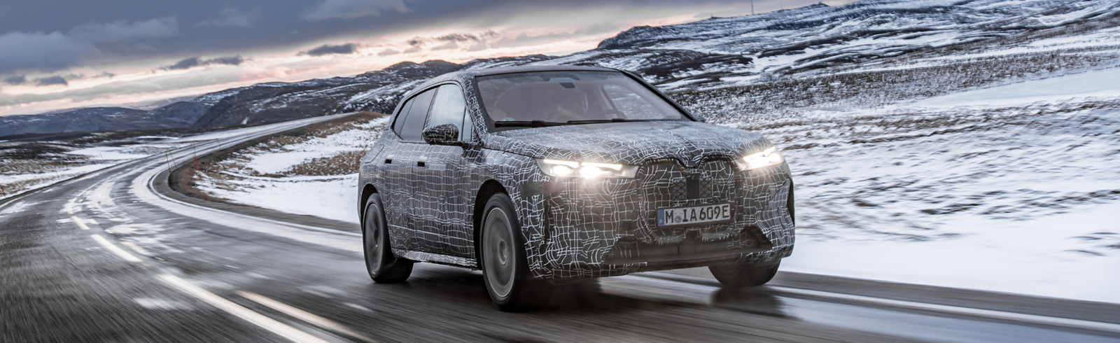 The BMW iX passes the final winter testing stage