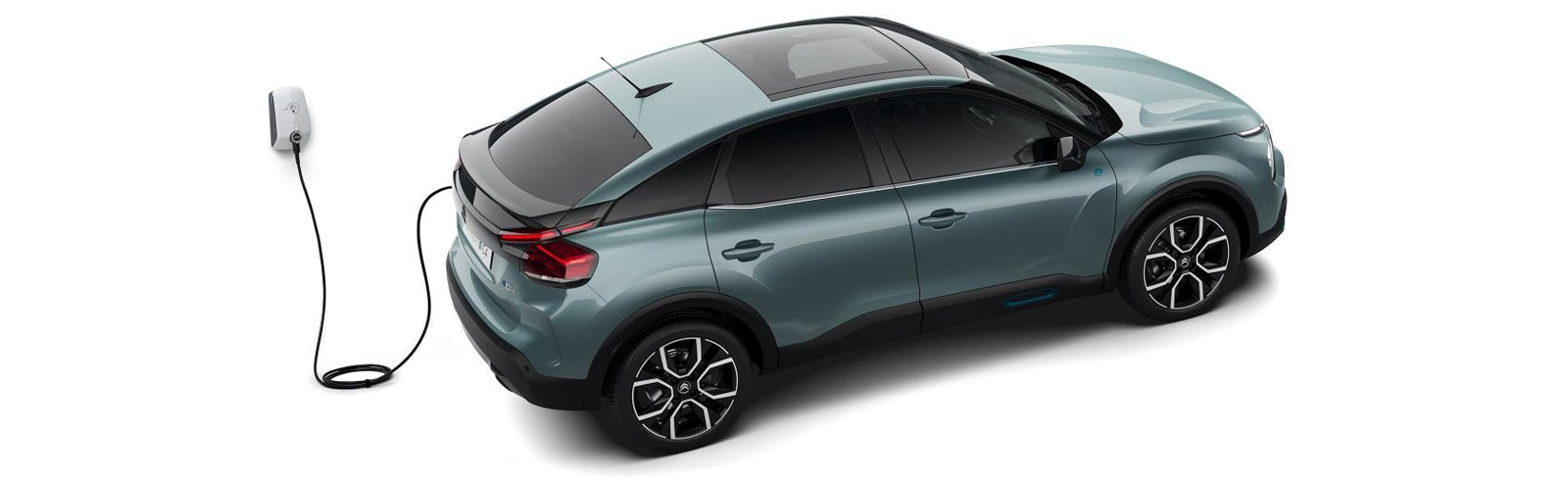 The Citroen e-C4 is the battery-electric version of the new Citroen C4