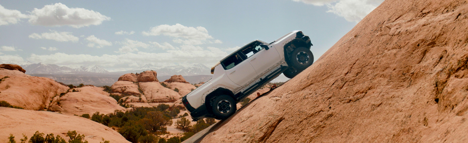 The GMC HUMMER EV Pickup is being tested on legendary off-road Moab trails