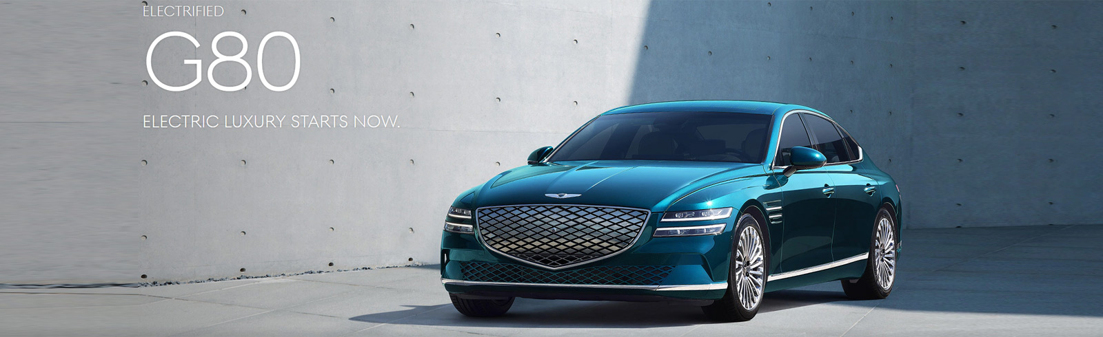 Genesis G80 Electrified is presented at Auto Shanghai 2021