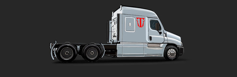 Triton-EV produced and showcased its 18-wheel semi-truck that's 100% electric-powered