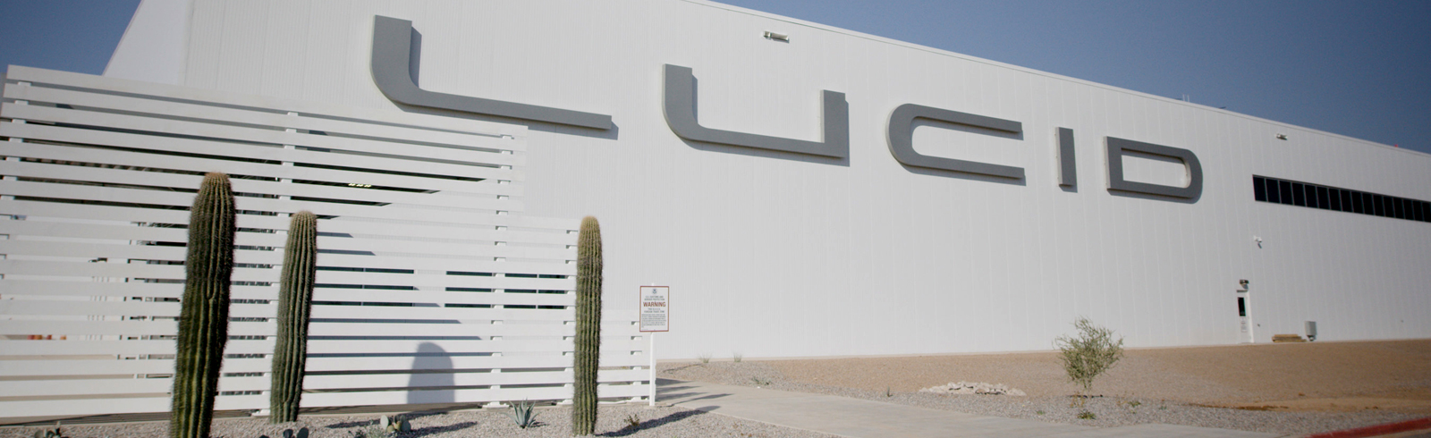 Lucid Motors completes the first construction phase of its Lucid AMP-1 plant in Arizona