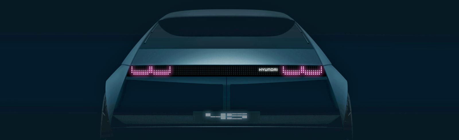 Hyundai teases the new 45 EV concept car prior to its IAA unveiling in Frankfurt