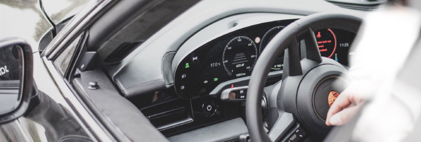 Spy photos of the Porsche Taycan interior hint at a Mission E Cross Turismo Concept style