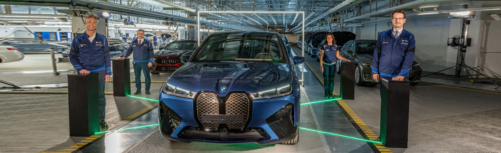 The BMW iX entered production at the Dingolfing plant in Lower Bavaria, Germany