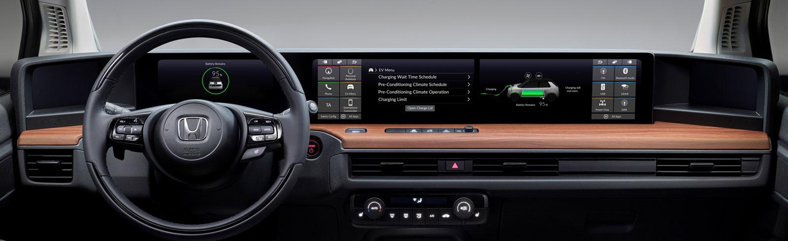 Honda previews Honda e's dashboard and connectivity options
