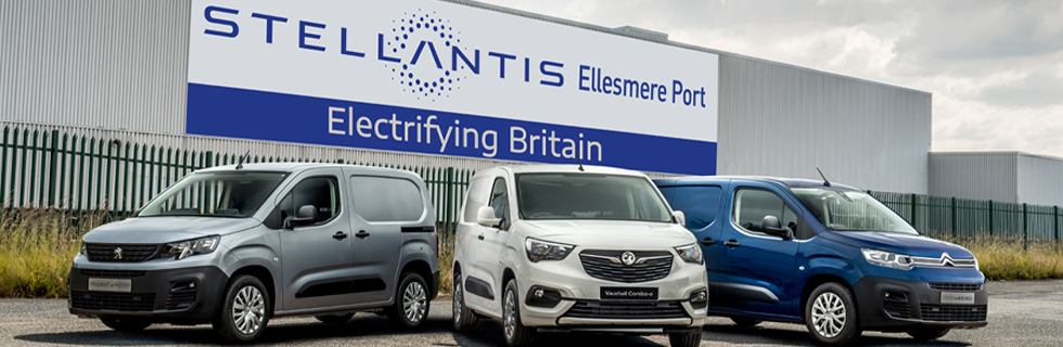 Stellantis invests £100 million in its Ellesmere Port plat for battery electric LCVs