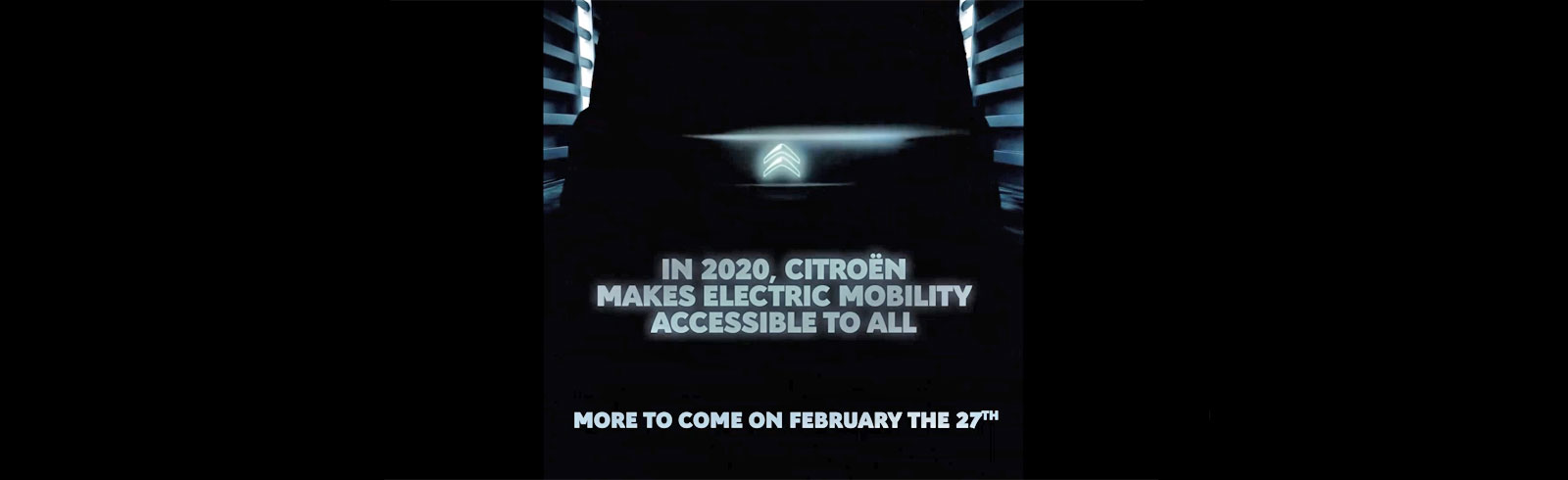Citroen teases a new electric vehicle, will unveil more on February 27