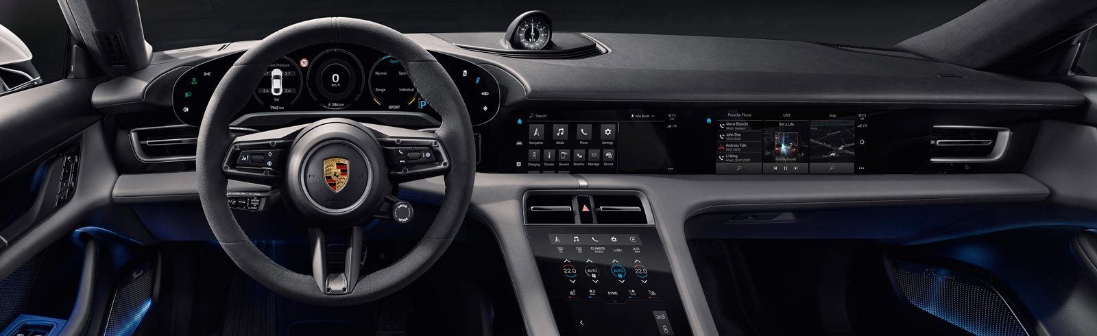 Porsche Taycan full interior unveiled