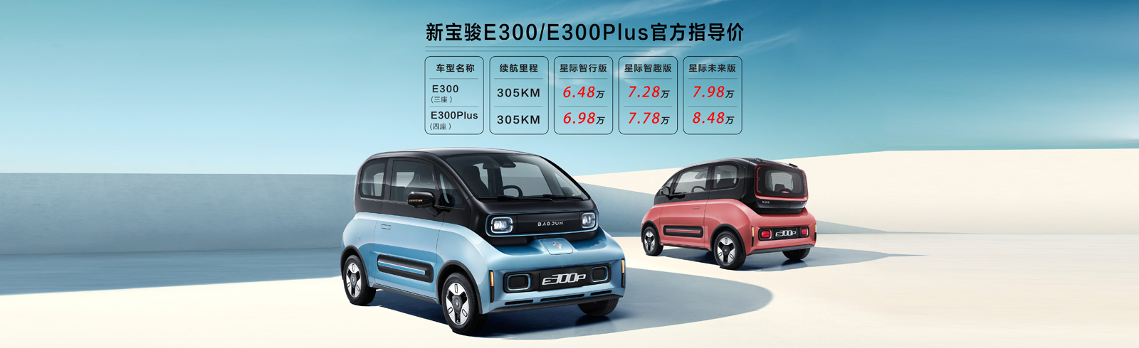 GM's Baojun brand launches the E300 and E300 Plus EVs
