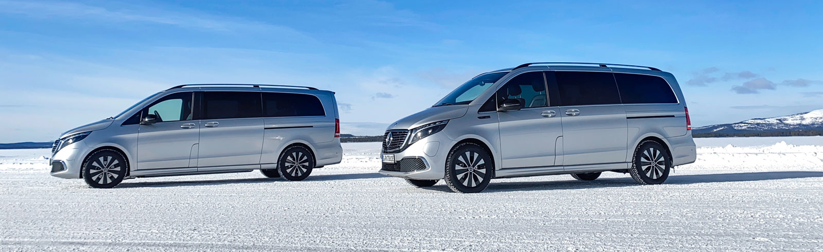 Mercedes-Benz EQV tested in winter conditions