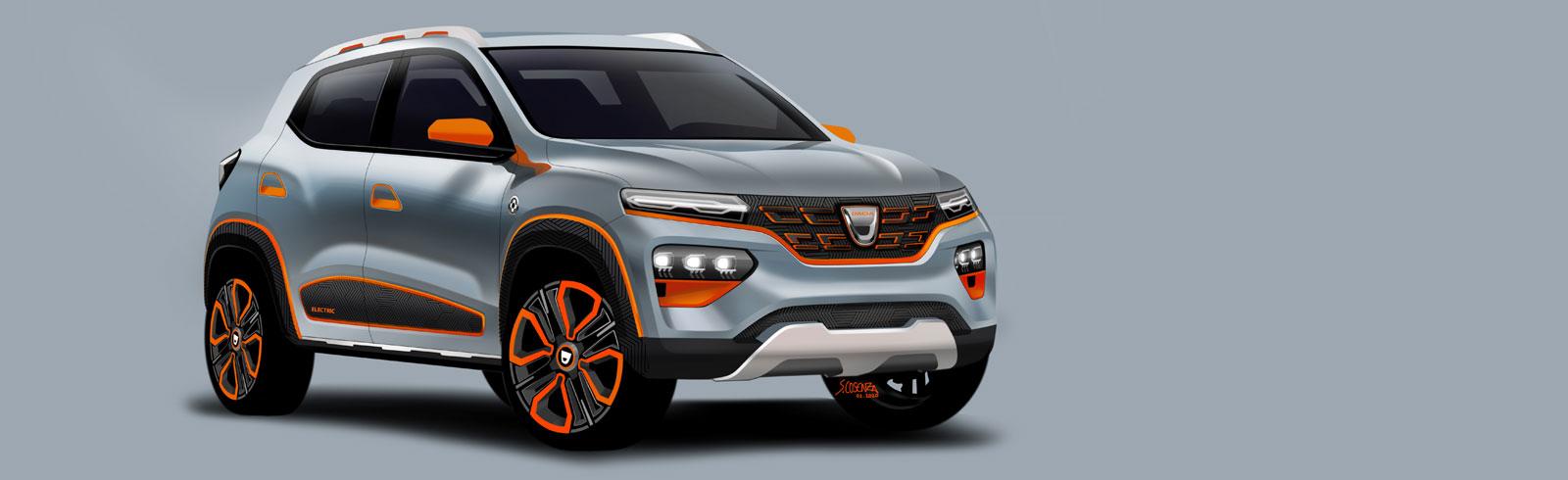 Dacia Spring previews Dacia's first all-electric model