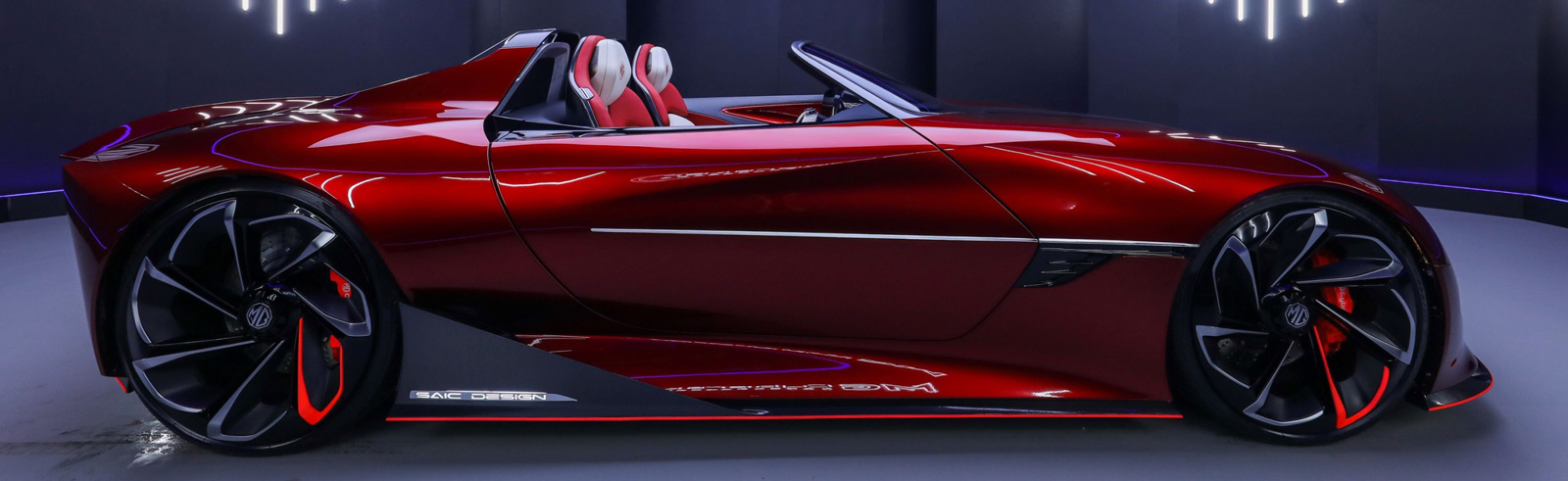 The MG Cyberster concept with module-less battery and 800 km of range has been unveiled