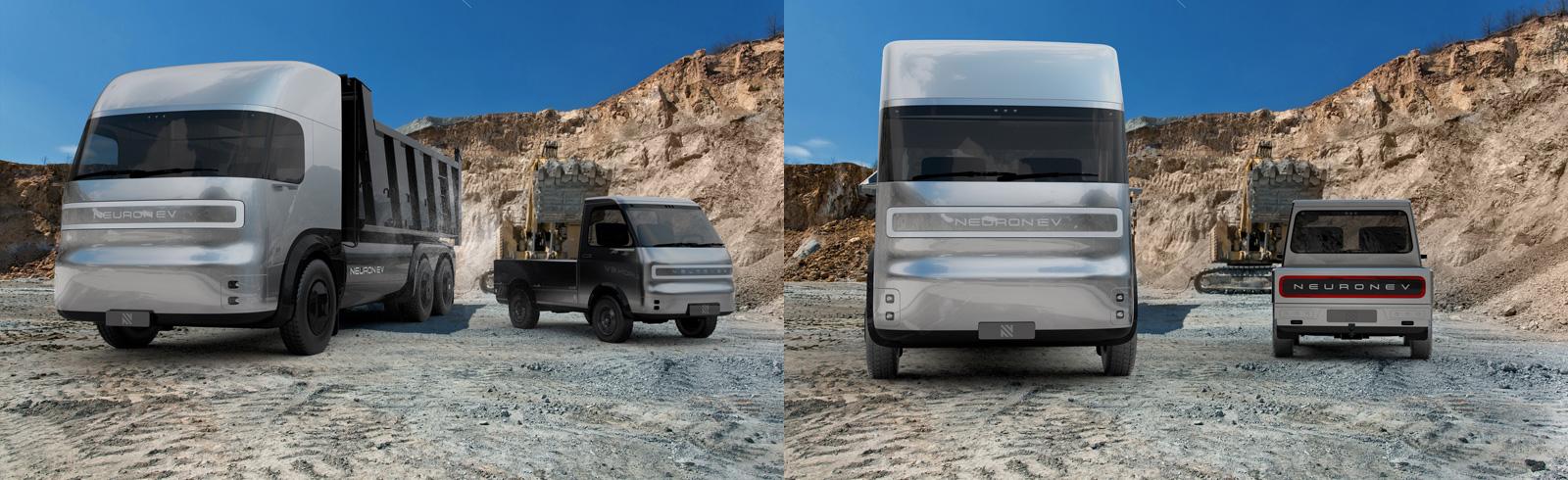 Neuron EV unveils a duo of modular electric trucks