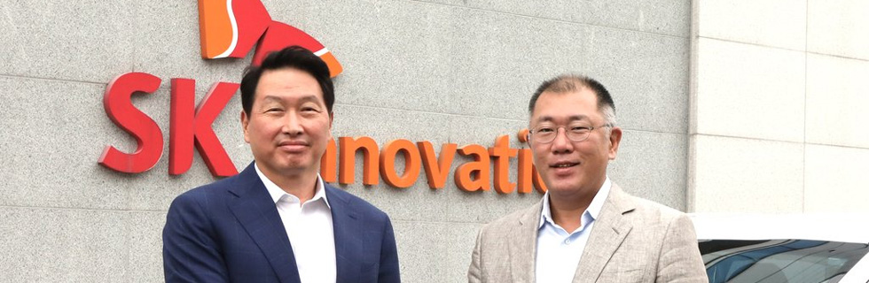 Hyundai Motor and SK Innovation chiefs meet to discuss cooperation in the EV market