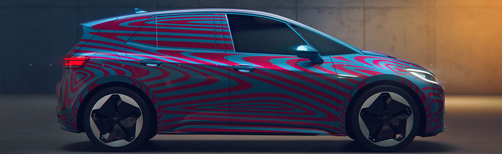 Volkswagen ID.3 dashboard teased in a commercial