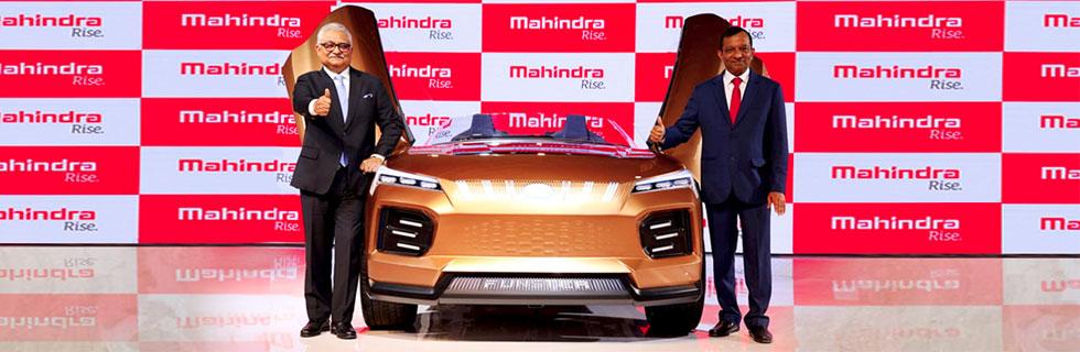 Mahindra presents its MESMA 350 EV platform and three EVs at Auto Expo 2020 in India
