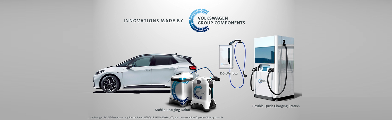 Volkswagen Group Components presented a DC wallbox with bi-directional charging support