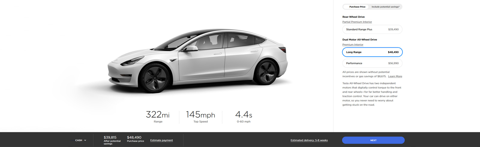 Tesla Model 3 price increases with $1,000 in the US and €1,000 in the EU