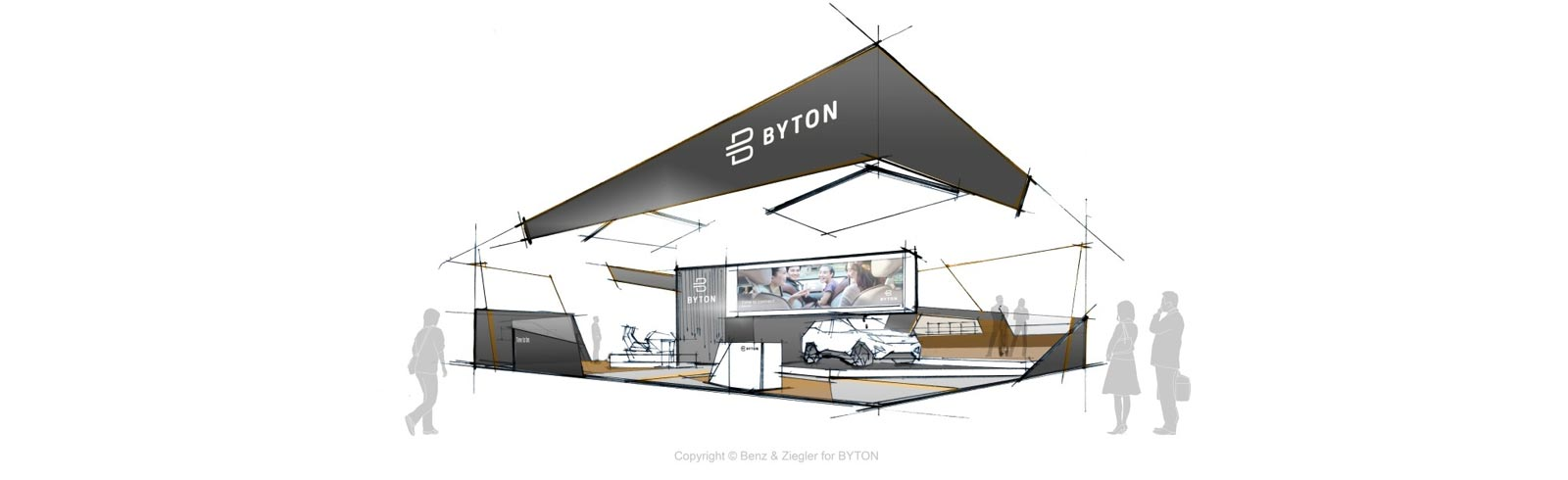 Byton M-Byte will be presented on September 10th at the IAA 2019 in Frankfurt