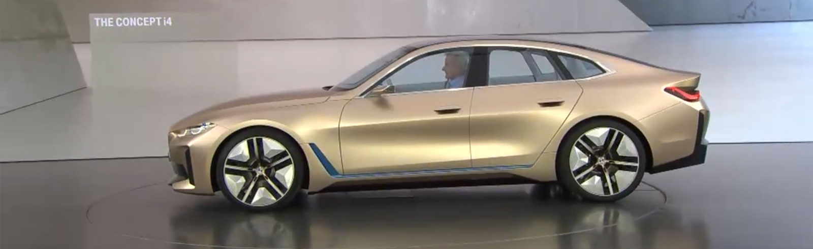 The BMW Concept i4 goes official with a range of up to 600 km, 530 horsepower