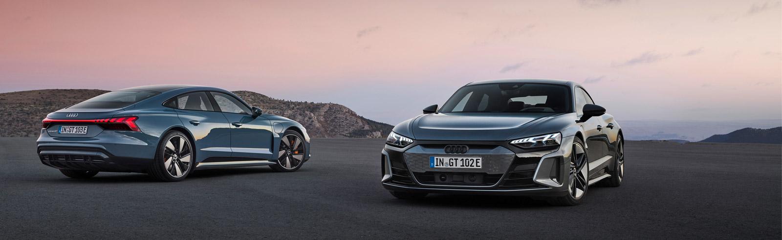 Audi RS e-tron GT and Audi e-tron GT quattro official photos
