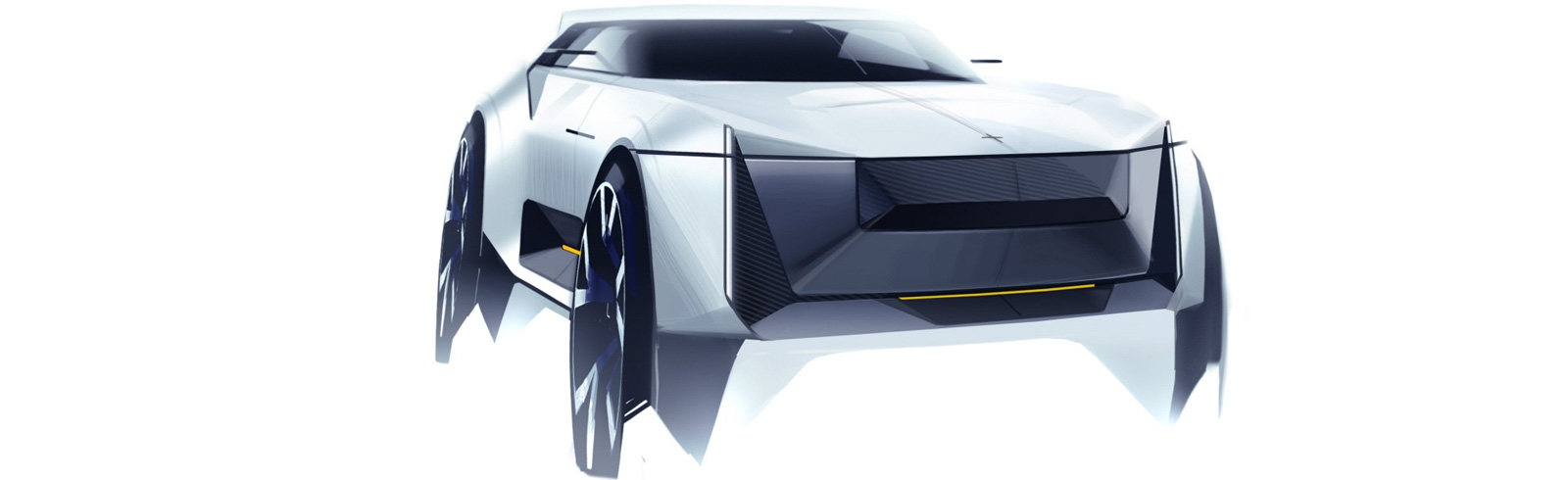 First sketches of the Polestar 3, will be based on Volvo's SPA platform