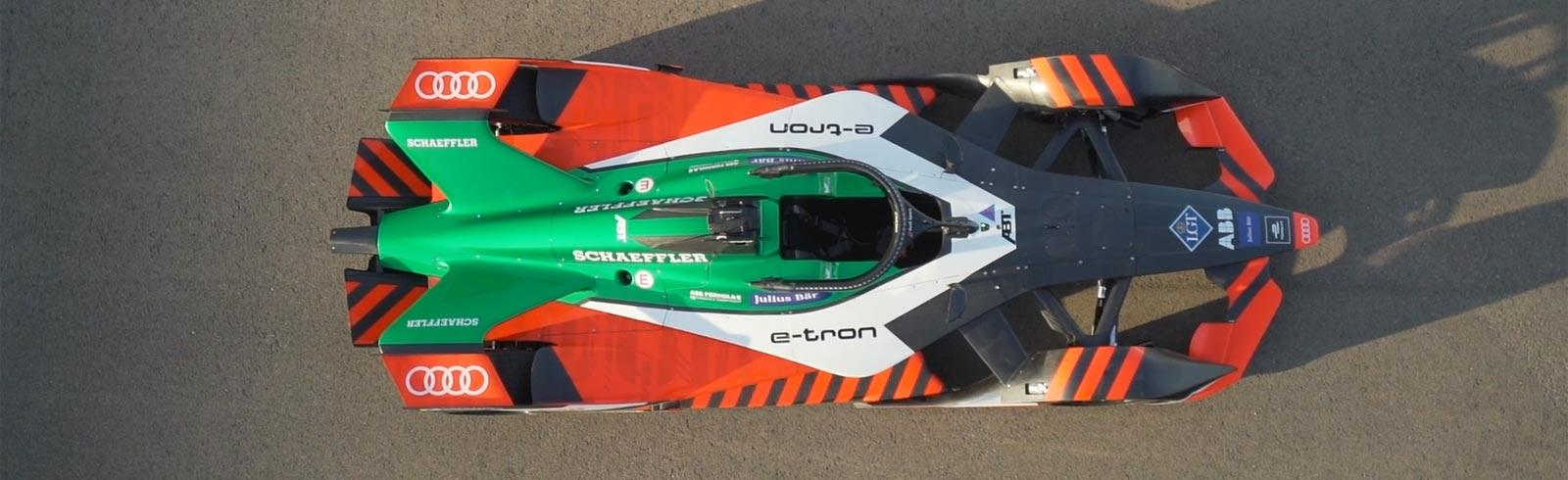 The 2020 Audi e-tron FE06 Formula E racer gets a design overhaul