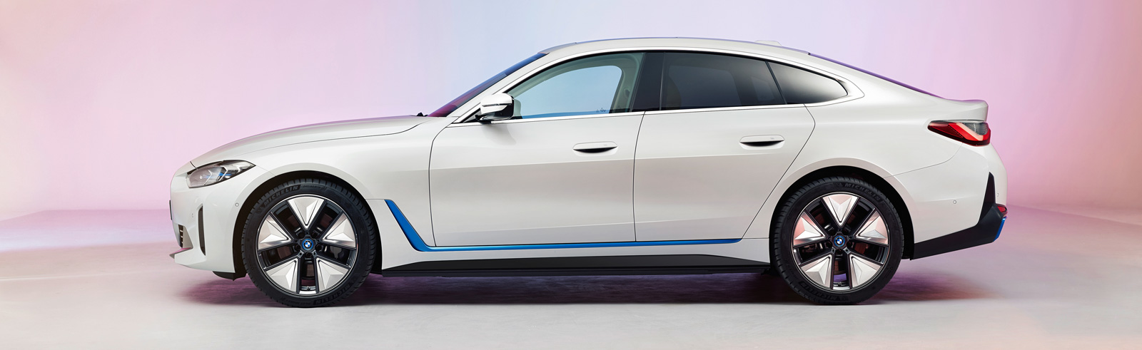 The BMW i4 is teased at the BMW Group Annual Conference