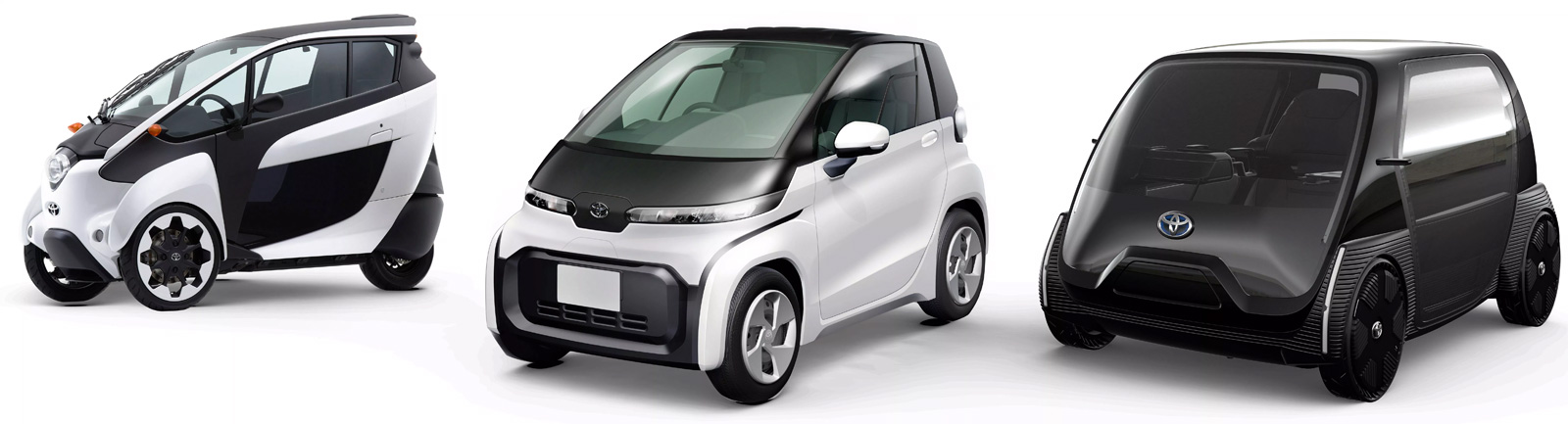 Japan's Ministry of transport tests the Toyota i-Road and 18 other ultra-mini EVs in Tokyo