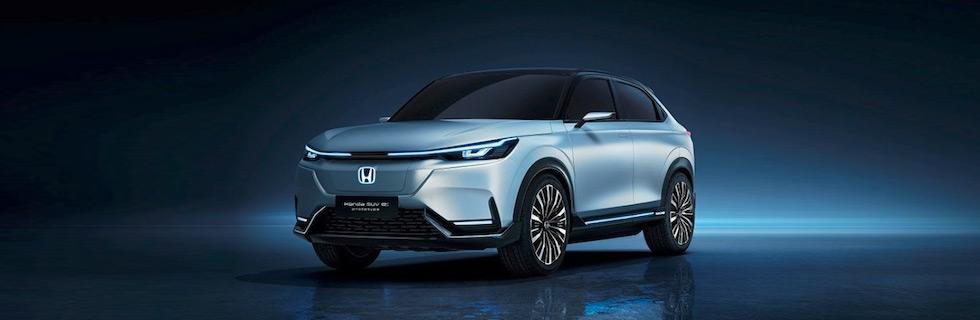 Honda exhibits the Honda SUV e:prototype