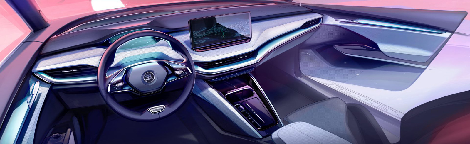 Škoda shows off the ENYAQ iV interior