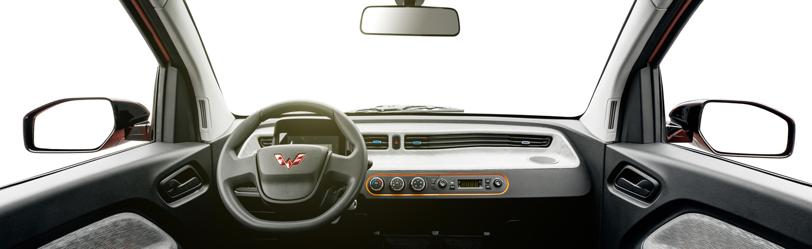GM's Wuling unveiled the interior of its Hong Guang Mini EV