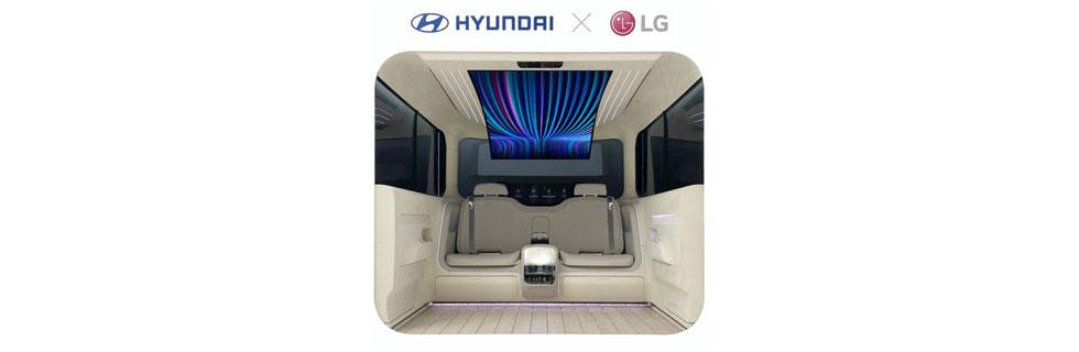 LG and Hyundai presented the IONIQ Concept Cabin